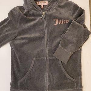 Juicy Couture Grey Velour Zip Hoodie